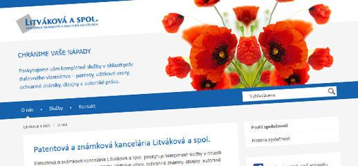 Webstránka Litváková & spol. v responzívnom dizajne
