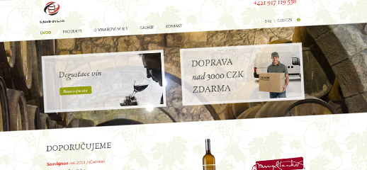 Mediin.cz - e-shop so značkovými vínami
