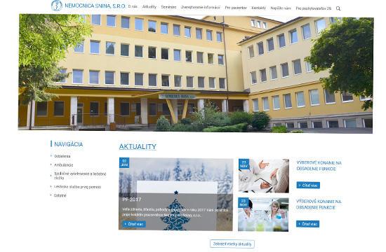 Nemocnica Snina - redizajn webstránky