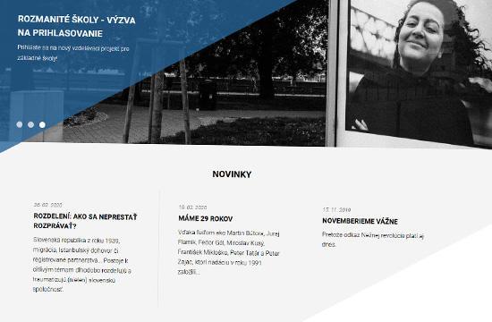 Nová web stránka Nadácie Milana Šimečku
