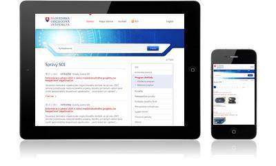 Webové sídlo Slovenskej obchodnej inšpekcie - responzívny dizajn