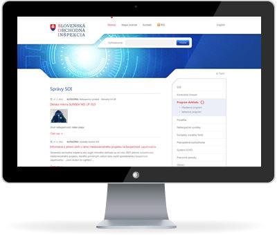 Webové sídlo Slovenskej obchodnej inšpekcie