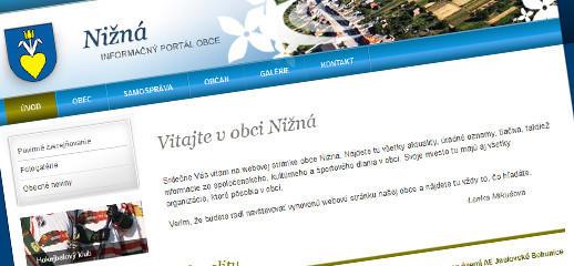 Nová prístupná webstránka obce Nižná