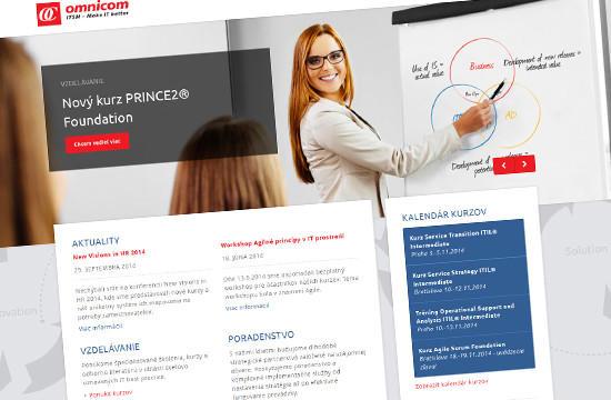 OMNICOM - redizajn webstránky poprednej IT spoločnosti