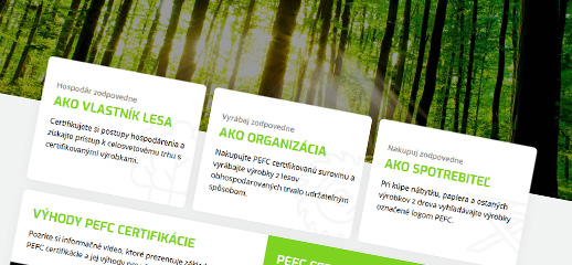 PEFC - trvalo udržateľné obhospodarovanie lesov