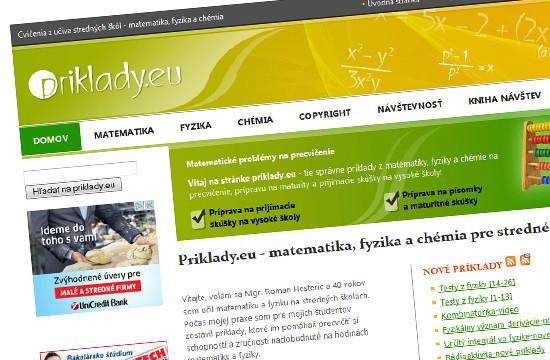 Príklady.eu - riešené príklady z matematiky a fyziky