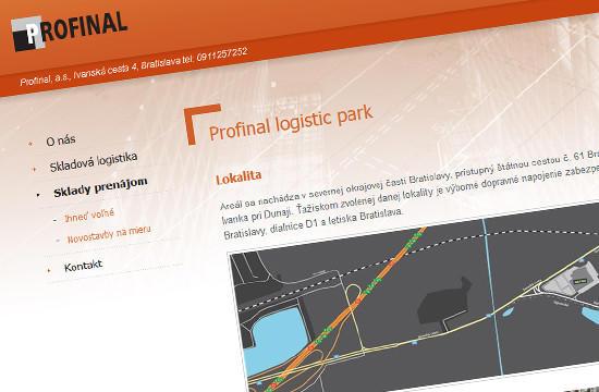 Spoločnosť Profinal a.s. má novú webstránku