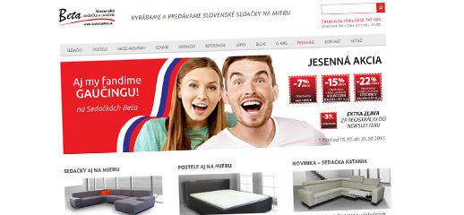 Beta Trenčín - slovenské sedačky a postele na mieru
