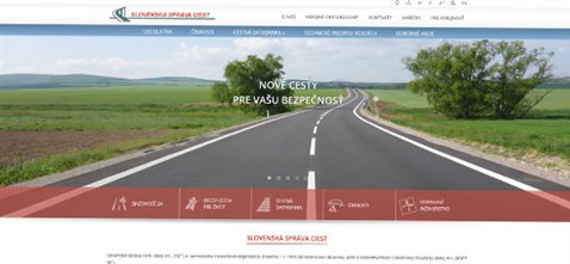Slovenská správa ciest - redizajn webového sídla