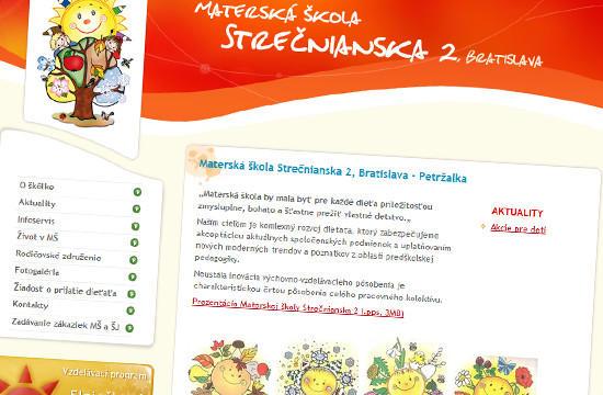 Nová web stránka pre Materskú školu Strečnianska 2
