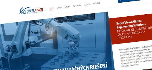 Prezentačná web stránka spoločnosti Super Vision