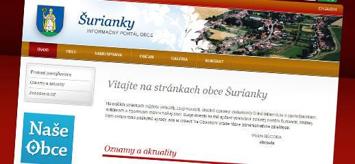 Nová webstránka pre obec Šurianky
