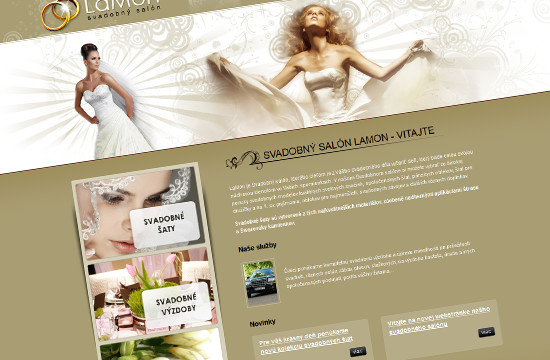 Redizajn webstránky svadobného salónu LaMon