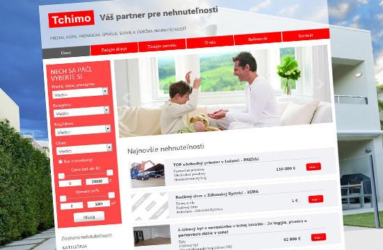 Tchimo – nová webstránka pre reality a strechy