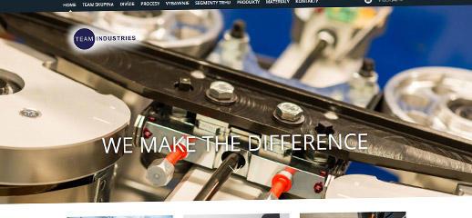 Prezentačný web pre Team Industries