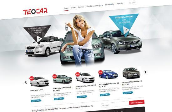 Autopožičovňa Teocar má novú webstránku