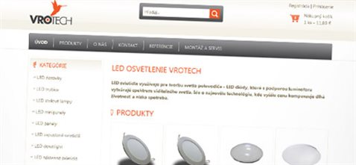 Vrotech.sk – e-shop s LED osvetlením