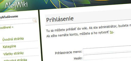 AlejWiki - nová klientska zóna pre zákazníkov