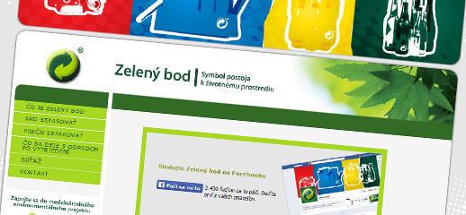 Webstránka Zelený bod.sk pre spoločnosť ENVI-PAK