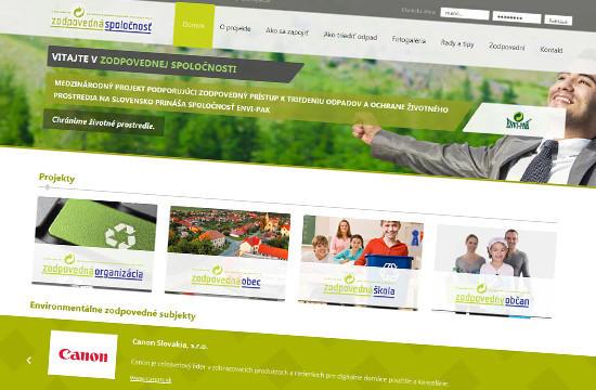Zodpovedná spoločnosť – responzívny web nového projektu