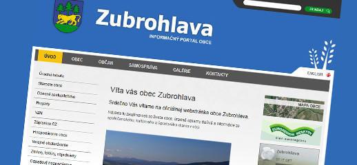 Novú obecnú webstránku má už aj obec Zubrohlava